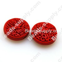 Lacquer carving Beads ,10*22mm