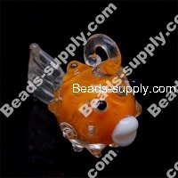 Lampwork Pendant , Goldfish £¬ Approx Size : 25*23mm