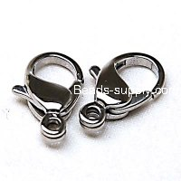 Lobster Clasp,Stainless Steel Clasp,316 steel, 15x9x3mm, Sold by Bag