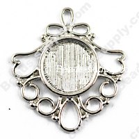 "Pendants,29x27mm Cameo Cabochon Base Setting Pendants£¬Antique ""pewter"" Plated,Sold 100 Pcs Per Lot"