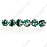 Polyclay/Fimo Round Beads 6mm