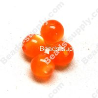 Resin beads, cat's eye 8mm,Orange
