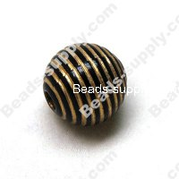 Bead,acrylic with gold-color wire,Black, 20mm