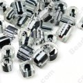 Bead mix, cane glass,black/white, assorted size/shape. Sold per pkg of 50g