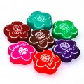 Beads,10x24mm satin flower beads,random mixed rubberized beads,sold of 100 pcs per pkg