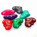 Beads,9x20x28mm satin heart beads,mixed color rubberized beads,sold of 100 pcs per pkg