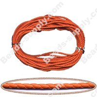 Braided Leather 3mm