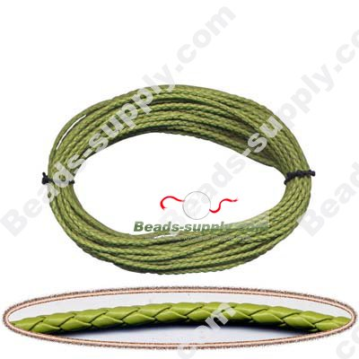 Braided Leather 3mm - Click Image to Close
