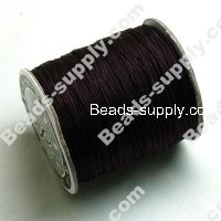 Cord, Bugtail, satin, brown, 0.5mm