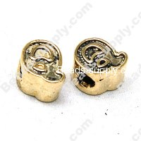 European Style Beads,18k Antique Gold,Sport Q