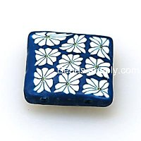 Fimo Charms 20*20mm ,Blue