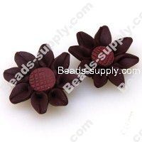 Fimo Sun Flower Beads 30mm,Dark Coffee
