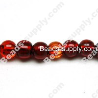 Glass Silver Foiled Round Beads 14mm