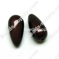 Miracle Beads Teardrop beads 12 *23mm , Coffee