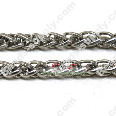 Plated Metal Chains,8*11mm - Click Image to Close