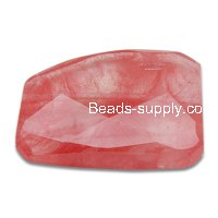 Red Watermelon 32x42mm Shapelessness Angle Beads