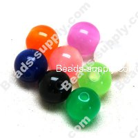 Resin beads, cat's eye 8mm,Mixed Color