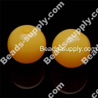 Acrylic Jelly Round Bead 10mm , Orange
