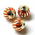 Acrylic UV Plated Beads ,Striated surface,Round Beads 16mm,Orange