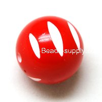 Beads,20mm Round Beads,engraving Beads,Red