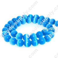 Cats Eye Round Beads 10mm,Sapphire