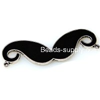 "Charm,antiqued""pewter"" (zinc-based alloy), 20x60mm Avanty beard. Sold per pkg of 100"