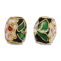 Cloisonne Drum Beads 10x12 mm
