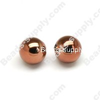 Colorful Plated Round Beads 16mm