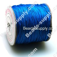 Cord, Mousetail, satin, blue, 0.5mm.
