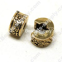 European Style Beads,18k Antique Gold,Lock Beads