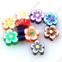 Fimo Flower Beads 12mm ,Assorted