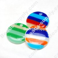 Lampwork Round Pendants , Approx Size 44mm
