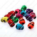 Large hole beads,plastic beads,assorted color,skull shape