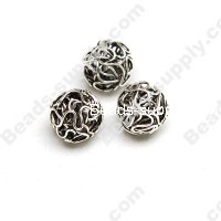 Metal Wired Silver Plated Beads 16mm