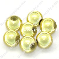 Miracle Beads Round 8mm , Lt Yellow