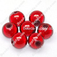 Miracle Beads Round 8mm , Red