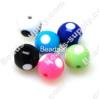 Printing beads 16mm Mixed Color