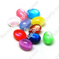 Resin beads, cat's eye 9*14mm,Mixed Color