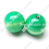 Wood Round Bead 20mm,Green