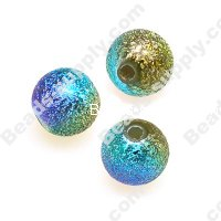 8 MM Acrylic Rainbow Round Beads , Shimmering beads