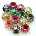 Beads,Loose beads,12mm Round Aluminium Beads,colorful beads with carving, sold of 200pcs