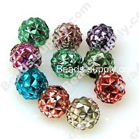 Beads,Loose beads,8mm pineapple shape,colorful beads with silverline sold of 2300pcs