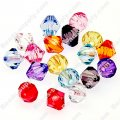 Beads,transparent acrylic bicone beads,6mm