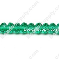 Briolette Glass Beads 8mm*10mm,Green