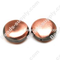 Brushing Antique Copper Acrylic Beads 28x14mm