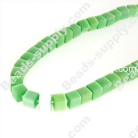 Cats Eye Cubic Beads 6mm