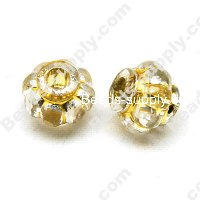 Clear Gilding Silver Line Beads 11x9mm