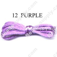 Cord, Bugtail, satin, purple, 2mm.
