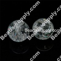 Cracked Quartz Round Beads