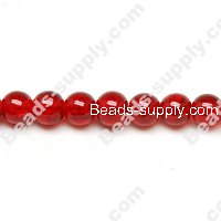 Cracked Round Bead 12mm ,Red